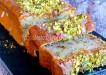 budín de pistachos y naranja