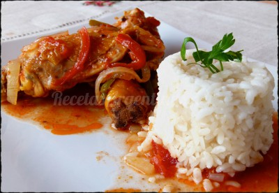pollo a la portuguesa y arroz